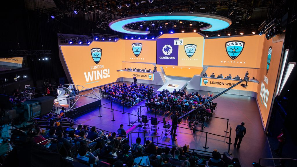 Overwatch League match in the Blizzard Arena in southern California